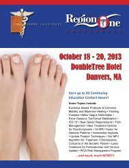 On-line Brochure - The Podiatry Institute