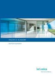 Academy Qualifizierungsprogramm - Ingenics Academy