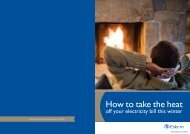 How to take the heat out of your electricity bills in winter ... - Eskom IDM