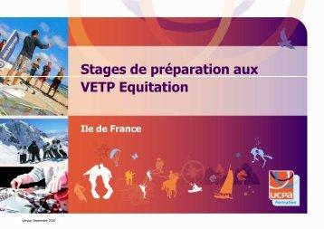 Préparation aux VETP en Ile de France - Ucpa