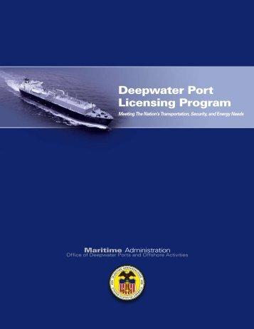 Deepwater Port Licensing Program Brochure - Maritime Administration