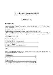 Laboratorio di programmazione