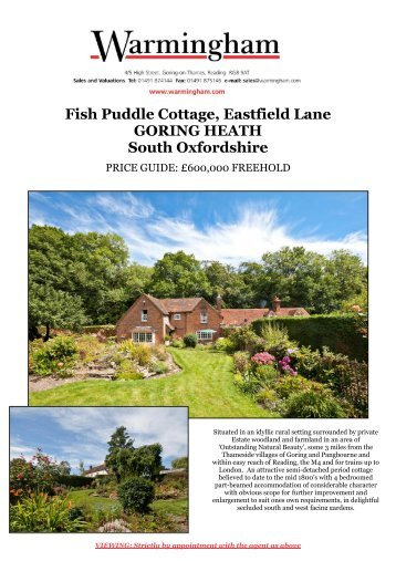 Fish Puddle Cottage, Eastfield Lane GORING ... - Warmingham