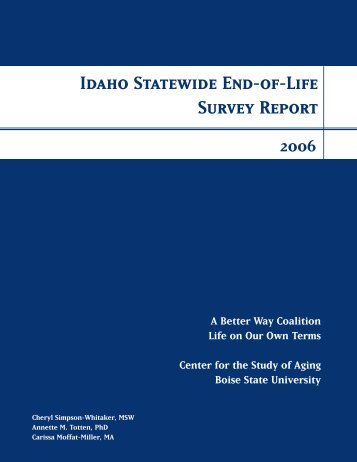 Full Report - Idaho End-of-Life Coalition