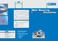 GMN Ball Bearing Clutches