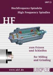 Type Series RHF Milling Spindles