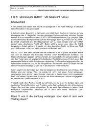 Fall 1 - Lehrstuhl für Bürgerliches Recht, Wirtschaftsrecht und ...