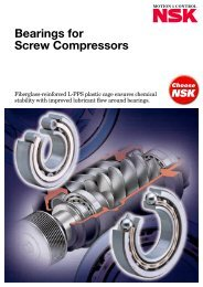Bearings for Screw Compressors