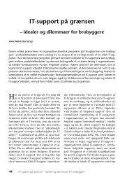IT-support på grænsen – idealer og dilemmaer ... - Nyt om Arbejdsliv