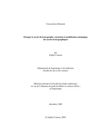 PDF (1,5Mo) - Observatoire de linguistique Sens-Texte (OLST ...