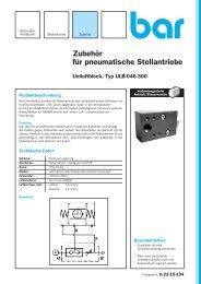 Zubehör für pneumatische Stellantriebe - bar GmbH