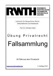 Übung Privatrecht - Lehrstuhl für Bürgerliches Recht ...