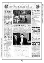 MARIÁŠ - Mariánskolázeňské listy