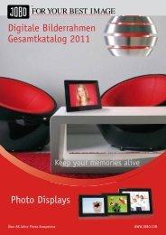Photo Displays Digitale Bilderrahmen Gesamtkatalog 2011 - Jobo