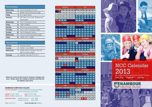 Ncc Calendar Nambour Christian College Events