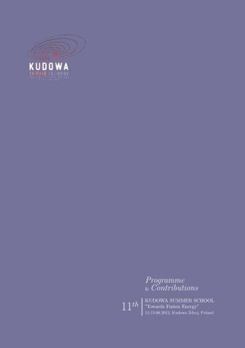 Programme & Contributions - Kudowa Summer School - IFPiLM