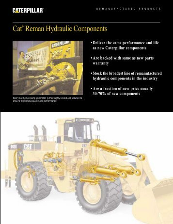 Cat® Reman Hydraulic Components - Venequip