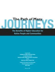The Path of Many Journeys - American Indian Higher Education ...