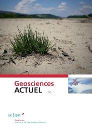 Geoscience ACTUEL 2/2012 - Platform Geosciences - SCNAT