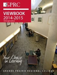 VIEWBOOK 2013-2014 - Grande Prairie Regional College