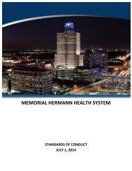 Standards of Conduct - Memorial Hermann