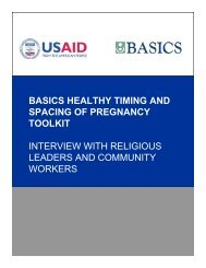 Interview with Religious Leaders and Community Workers ... - basics
