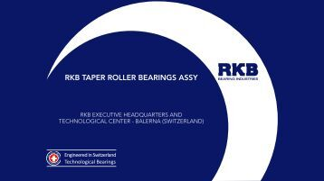 RKB TAPER ROLLER BEARINGS ASSY - RKB Bearing