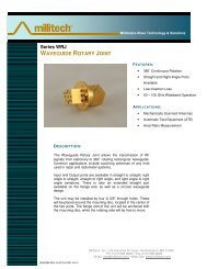 Series WRJ WAVEGUIDE ROTARY JOINT - Millitech