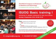 ISUOG Basic training I