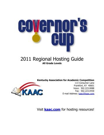 Hosting Guide - Governor's Cup Regional - All Grade Levels
