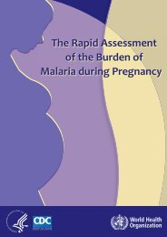 The Rapid Assessment of the Burden of Malaria ... - ReproLinePlus