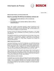 Información de Prensa - Bosch Argentina