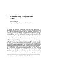Geomorphology, Geography, and Science Bernard 0. Bauer