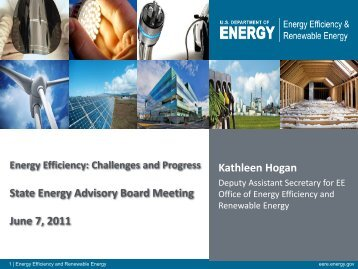 Energy Efficiency: Challenges and Progress - steab