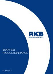 BEARINGS PRODUCTION RANGE