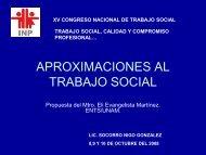APROXIMACIONES AL TRABAJO SOCIAL