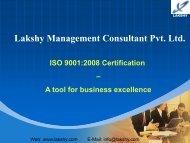 ISO 9001 awareness presentation - Lakshy