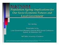 Population Ageing - NATSEM - University of Canberra