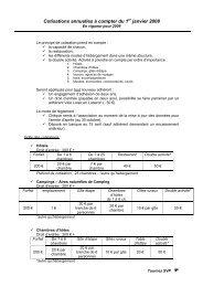 TARIFS cotisations 2008 en vigueur en 2009 - Vélo Loisir en Luberon