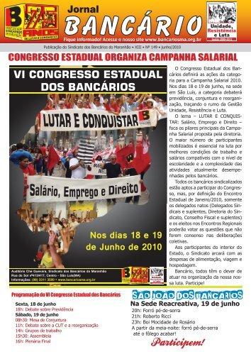 jornal bancarios maio.indd - Sindicato dos Bancários do Maranhão