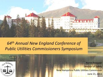 Three Incidents - New England Conference of Public Utilities ...