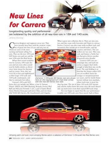 New Lines for Carrera New Lines for Carrera - Hobby Merchandiser