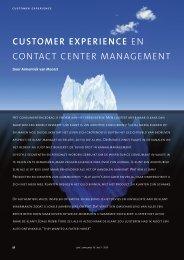 customer experience en contact center management - CCM