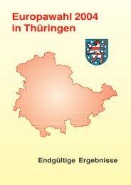 Europawahl 2004 in Thüringen - Endgültige Ergebnisse - Wahlen in ...