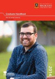 Graduate Handbook - The University of Waikato
