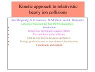 Kinetic approach to relativistic heavy ion collisions