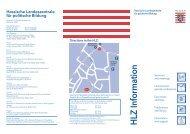 HLZ information leaftlet - Hessische Landeszentrale für politische ...