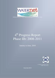 Phase IIb 4th Progress Report, January – June 2010 - Waternet ...