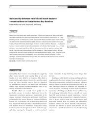 Relationship between rainfall and beach bacterial concentrations on ...
