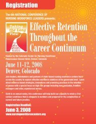 June 11-12, 2008 Denver, Colorado - The Washington State Nurses ...